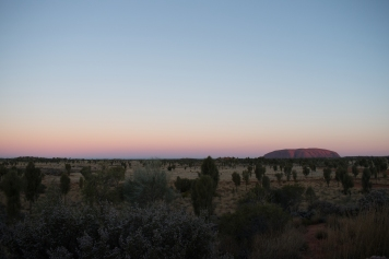 Uluru and surrounding landscape